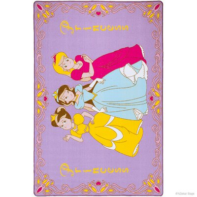 Hand-Tufted Purple Area Rug Rug Size: 73 x 102