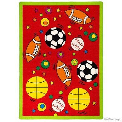 Red Area Rug Rug Size: Rectangle 73 x 102