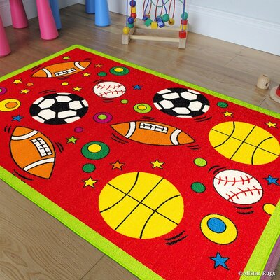 Red Area Rug Rug Size: 33 x 410