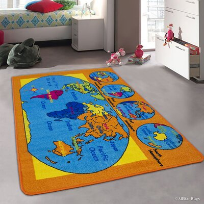 Orange/Blue Area Rug Rug Size: 411 x 611