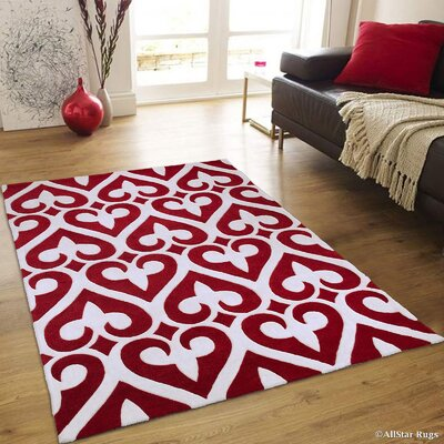 Hand-Tufted Cherry Area Rug Rug Size: 411 x 611