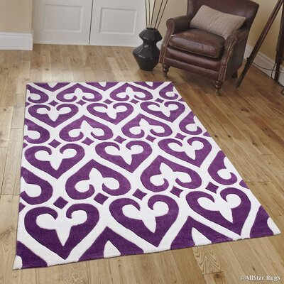 Hand-Tufted Purple Area Rug