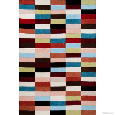 Hand-Woven Area Rug Rug Size: 77 x 106
