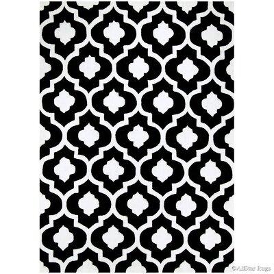 Handmade Black Area Rug Rug Size: 7 x 102