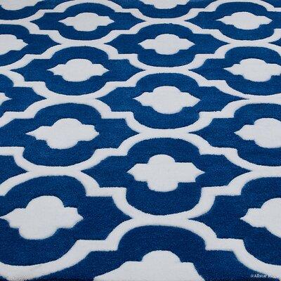 Handmade Blue Area Rug Rug Size: 411 x 611