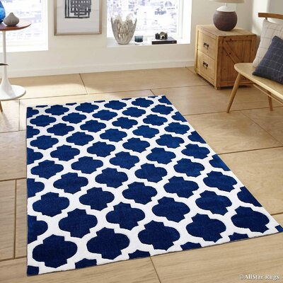 Hand-Tufted Blue Area Rug