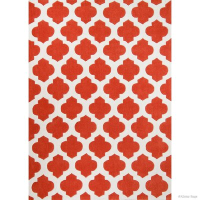 Handmade Orange Area Rug Rug Size: 411 x 611