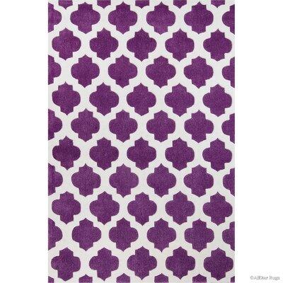 Hand-Woven Purple Area Rug Rug Size: 411 x 611