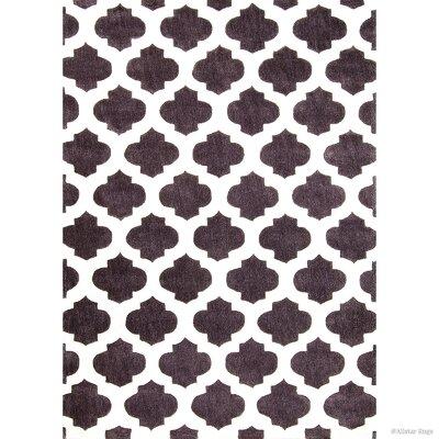 Hand-Woven Gray Area Rug Rug Size: 77 x 106
