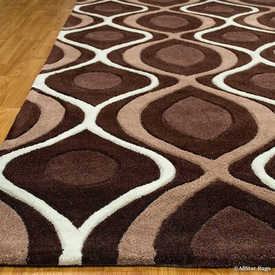 Handmade Brown Area Rug Rug Size: 411 x 611