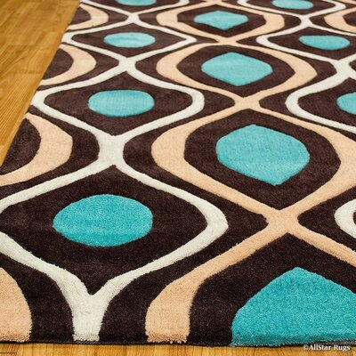 Handmade Brown Area Rug Rug Size: 411 x 611