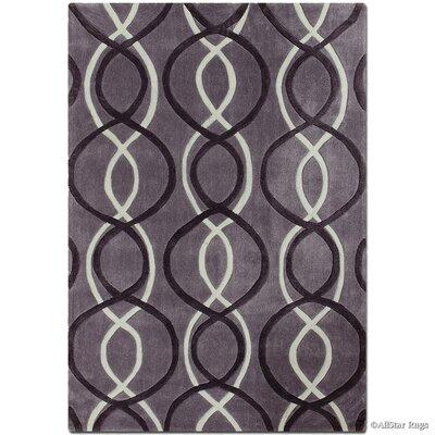Handmade Gray Area Rug Rug Size: 7 x 102