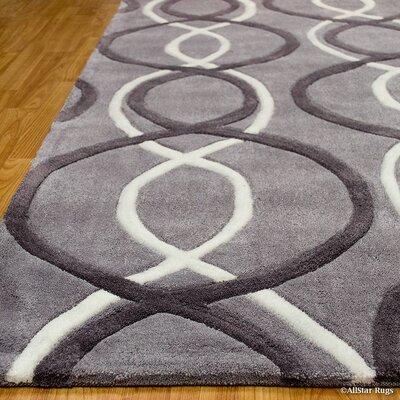 Handmade Gray Area Rug Rug Size: 411 x 611