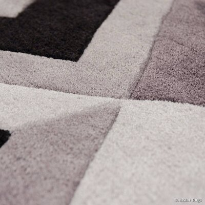 Handmade Gray Purple Area Rug Rug Size: 411 x 611