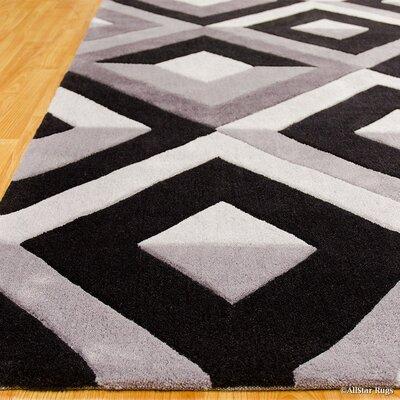 Handmade Gray Purple Area Rug Rug Size: 411 x 611