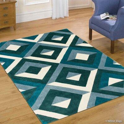Handmade Teal Area Rug Rug Size: 411 x 611