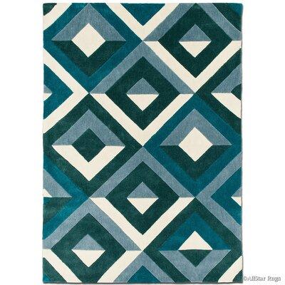 Handmade Teal Area Rug Rug Size: 7 x 102