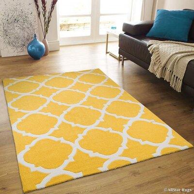 Handmade Yellow Area Rug Rug Size: 411 x 611