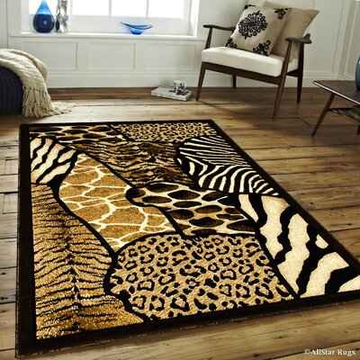 Hand-Woven Black Area Rug Rug Size: 710 x 102