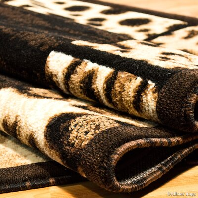 Hand-Woven Black Area Rug Rug Size: Square 7