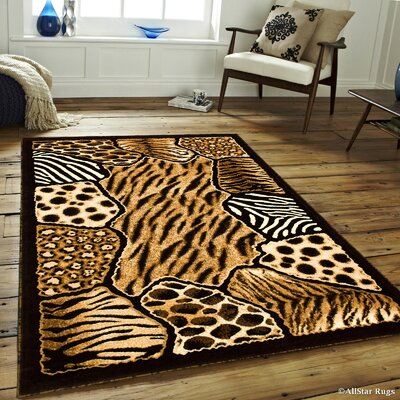 Hand-Woven Black Area Rug Rug Size: 52 x 72