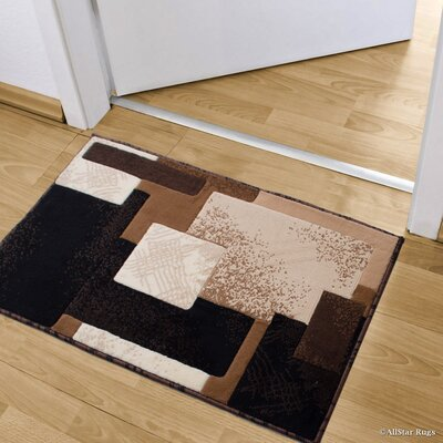 Kegley High-Quality Colorblock Designed Double Shot Drop-Stitch Carving Doormat Color: Black