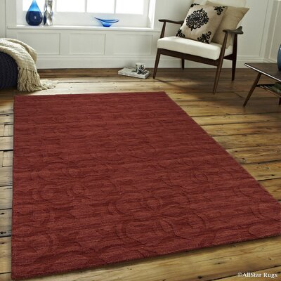 Alicia High-Quality Wool Extra Soft Brick Area Rug