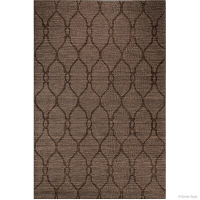 Scribner High-Quality Wool Ultra Soft Artisan Patterned Chocolate Area Rug