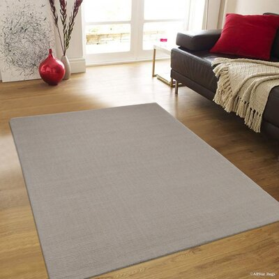 Rosewood High Quality Wool Ultra Soft Solid Textured Ivory Area Rug