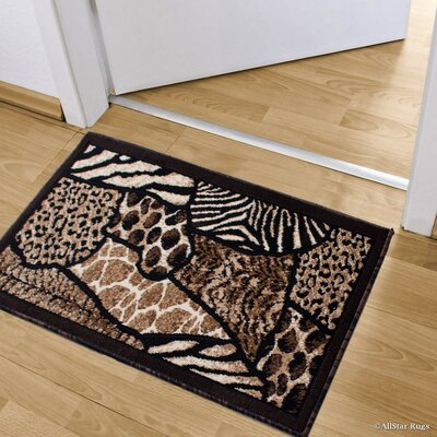 Hopkins Rectangle High-Density Exotic Animal Skin Doormat