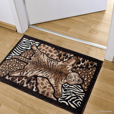 Hopkins High-Density Exotic Animal Skin and Lion Doormat