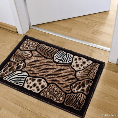 Hopkins High Density Double Shot Drop Stitch Carving Exotic Animal Skin Doormat