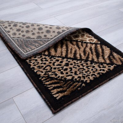Hopkins High Density Double Shot Drop Stitch Carving Animal Skin and Nature Safari Woven Doormat