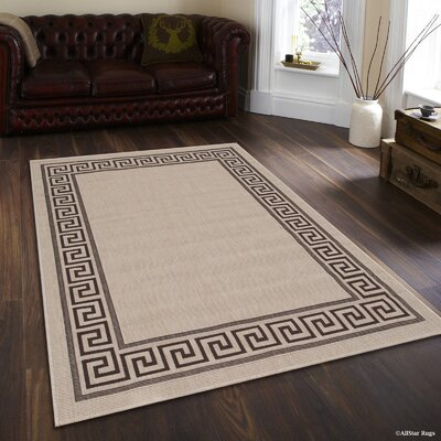 Howell All-Weather Beige Indoor/Outdoor Area Rug Rug Size: 5 x 7