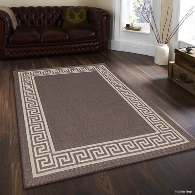 Howell All Weather Chocolate Indoor/Outdoor Area Rug Rug Size: 5 x 7