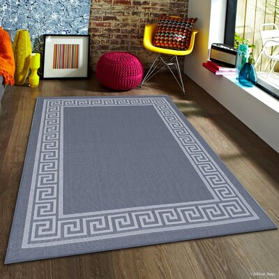 Howell All Weather Gray Indoor/Outdoor Area Rug Rug Size: 5 x 7