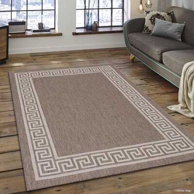 Howell All Weather Mocha Indoor/Outdoor Area Rug Rug Size: 5 x 7