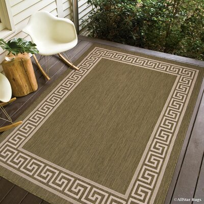 Howell All Weather Green Indoor/Outdoor Area Rug Rug Size: 5 x 7