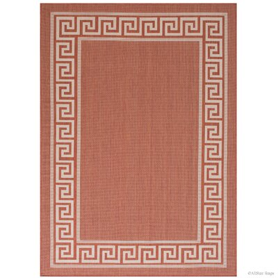 Howell All Weather Terracotta Indoor/Outdoor Area Rug Rug Size: 5 x 7