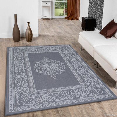 Solomon Gray Indoor/Outdoor Area Rug Rug Size: 710 x 102