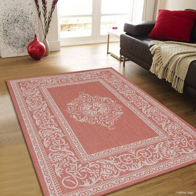 Solomon Terracotta Indoor/Outdoor Area Rug Rug Size: 5 x 7