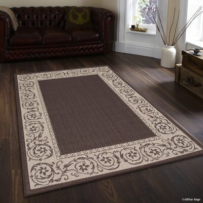 Annapolis All Weather Chocolate Indoor/Outdoor Area Rug Rug Size: 5 x 7