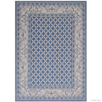 Benningfield All Weather Blue Indoor/Outdoor Area Rug Rug Size: 5 x 7