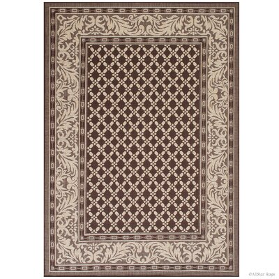 Benningfield All Weather Chocolate Indoor/Outdoor Area Rug Rug Size: 5 x 7