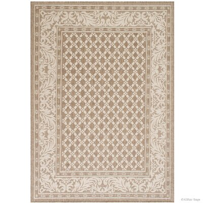 Benningfield Rectangle All Weather Mocha Indoor/Outdoor Area Rug Rug Size: 5 x 7