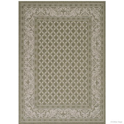 Benningfield All Weather Green Indoor/Outdoor Area Rug Rug Size: 5 x 7