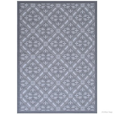 Benningfield All Weather Gray Indoo/Outdoor Area Rug Rug Size: 5 x 7