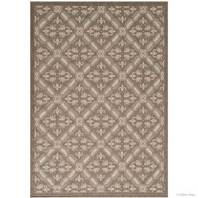 Benningfield All Weather Mocha Indoor/Outdoor Area Rug Rug Size: 5 x 7