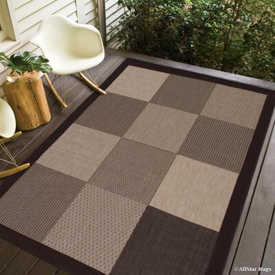 Russo All Weather Indoor/Outdoor Chocolate Area Rug Rug Size: 5 x 7