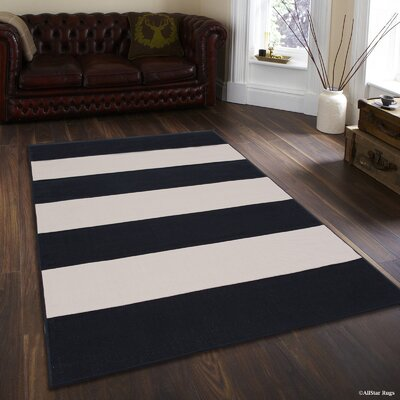 Mckinney Black Indoor/Outdoor Area Rug Rug Size: 710 x 102
